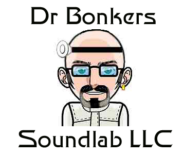 Dr Bonkers Soundlab LLC corporate logo with type 2017 all rights reserved