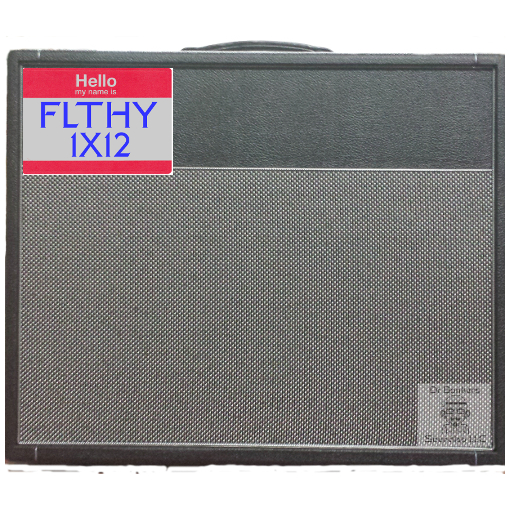Front view of Friedman Amplification® DIRTY SHIRLEY 112™ 1X12 Guitar Amp Cabinet with Celestion® G12-65 Creamback speakers