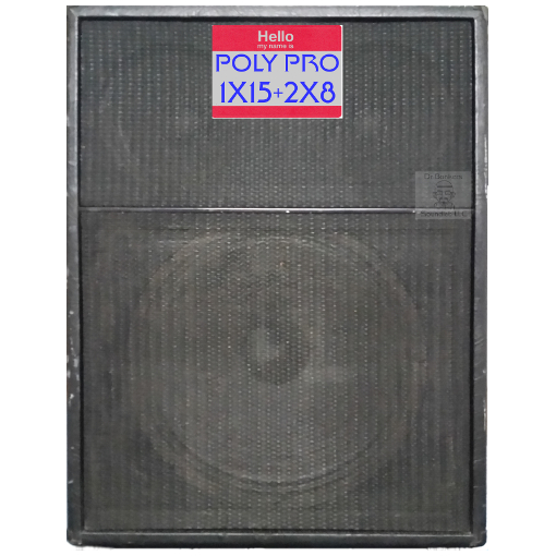1X15+2X8 guitar cab impulse response files (R) tribute to 1970's-era Polytone® Pro Series™ 1X15 plus 2X8 Guitar Amp Cabinet. which included the original 1X15 and 2X8 Polytone® unlabeled proprietary speakers with grille