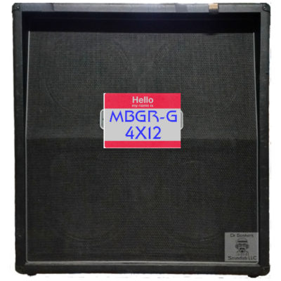 Dr Bonkers Guitar Cab-Oddities™ Volume 7: MBGR-G 4X12 Guitar Cabinet IR Files Collection Based upon the Mesa Boogie® Oversized Standard 4FB™ 280w 4X12 Guitar Amp Cabinet.