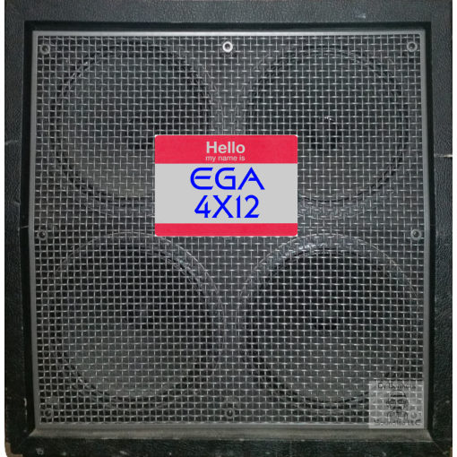 Dr Bonkers Guitar Cab-Oddities™ Volume 10: EGA 4X12 Guitar Cab IR impulse response IR files based on 2008 Engl® 4X12 E 412 Vintage Cab™ HRB 6238 240w Angled Guitar Amp Cab. This cabinet included the original 4X12 Celestion® G12-V30™ T3908 made in Ipswich, England speakers front view.