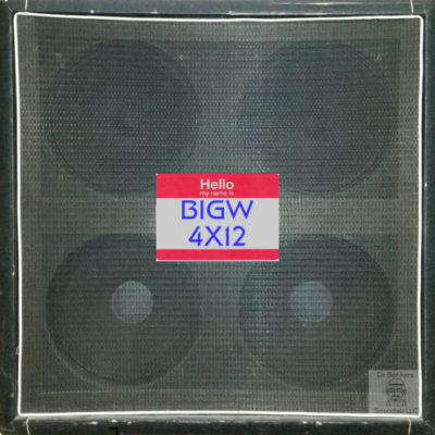 Dr Bonkers Guitar Cab-Oddities™ Volume 11: BIGW 4X12 Guitar Cab IR Collection in Fractal Audio and WAV file formats based upon the 1972 Hiwatt® 4X12 SE4123 ™ 100w Straight Guitar Amp Cab. This cabinet included 2 of the original 4X12 Hiwatt® badged Fane® purple label speakers [(code 125114 2943) labeled as BL & BR in my single mic files] made in England speakers and two 1973 square magnet Eminence® manufactured for Sound City® speakers [(code 67 7348) labelled as TL & TR in my single mic files] front view