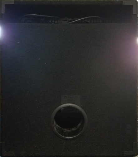 Rear view of Dr Bonkers Bass Cab Classics Volume 16: ALU2 1X15 Bass Cab IR Pack. Based upon a 1990s Hartke® Model 1415™ 1X15 Bass Combo, this cabinet is voiced with the original Hartke® 15 inch aluminum cone woofer. Available in Fractal Audio and WAV file formats.