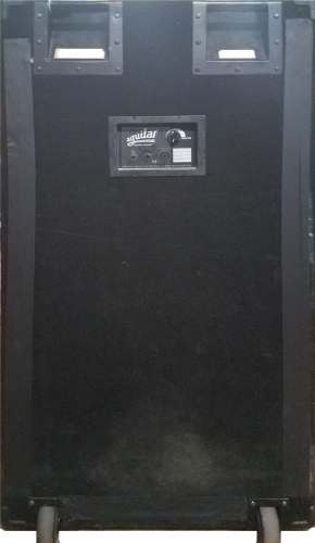 Rear view of Dr Bonkers Presents Bass Cab Classics™ Volume 18: AGI 4x12 Bass Impulse Response (IR) cab pack Based upon a 2000s era Aguilar Amplification® DB412™ 4x12 Bass Amp Cab Impulse Response (IR) files. This cabinet is voiced with proprietary Eminence® 12 inch bass speakers and Aguilar® phenolic tweeter that bassists used. Available in Fractal Audio and WAV file formats.